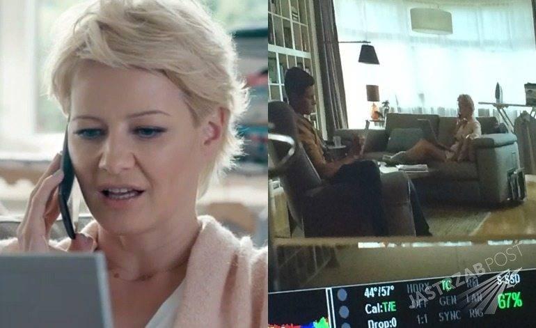 Małgorzata Kożuchowska na planie nowej reklamy ORANGE