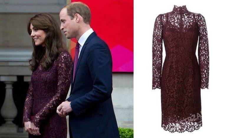 Księżna Kate w sukience koronki Dolce&Gabbana