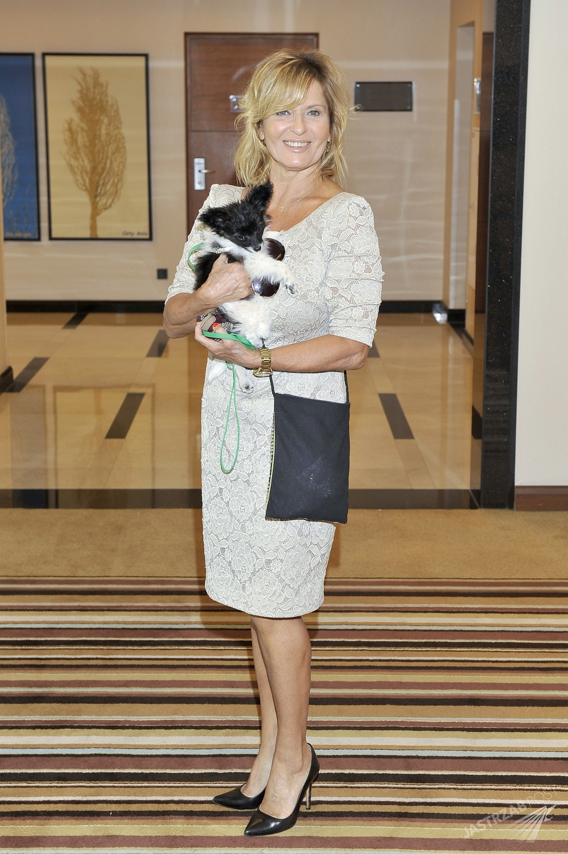 Ewa Kasprzyk z psem (fot. AKPA)