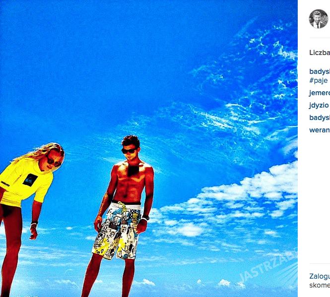 Andrzej Skowron na Instagramie z Jessicą Mercedes