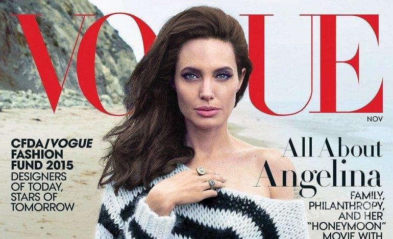 """Angelina Jolie w """"Vogue'u"""" (fot. Vogue)"""