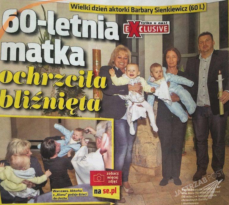 Chrzest bliźniaków Barbary Sienkiewicz