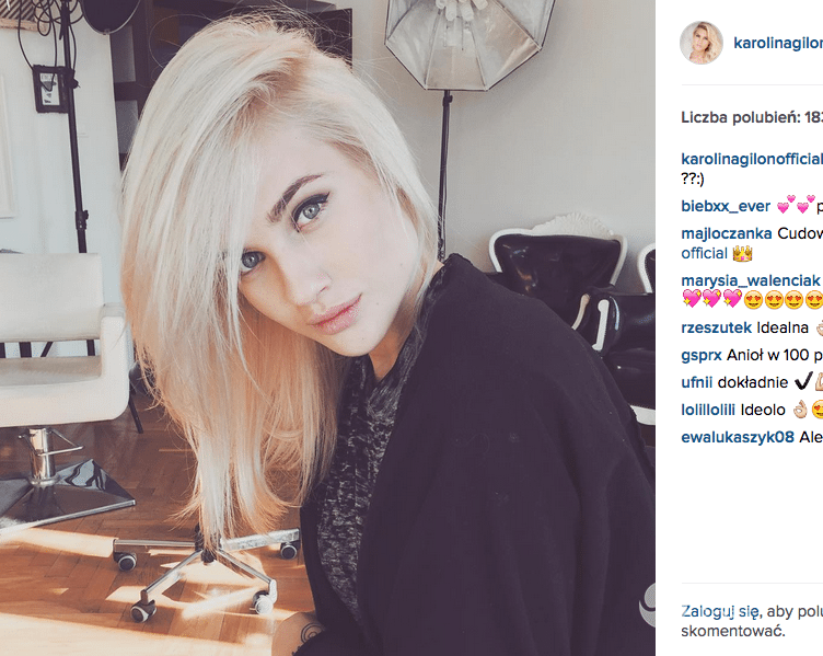 Karolina Gilon blondynką. Fryzurę pokazała na Instagramie