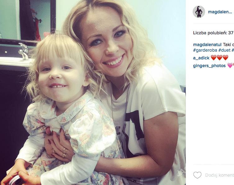 Magdalena Tul na Instagramie z córką