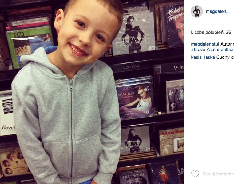 Magdalena Tul na Instagramie z synem