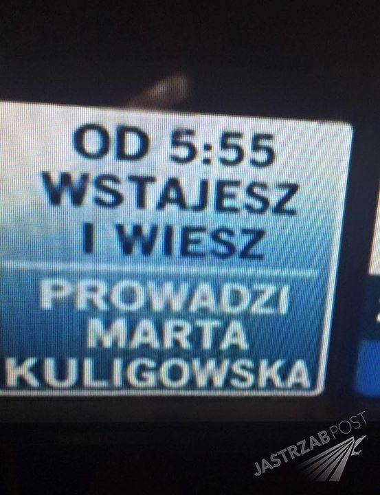 Marta Kuligowska prowadzącą Wstajesz i wiesz