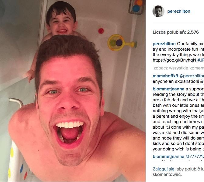 syn prysznic