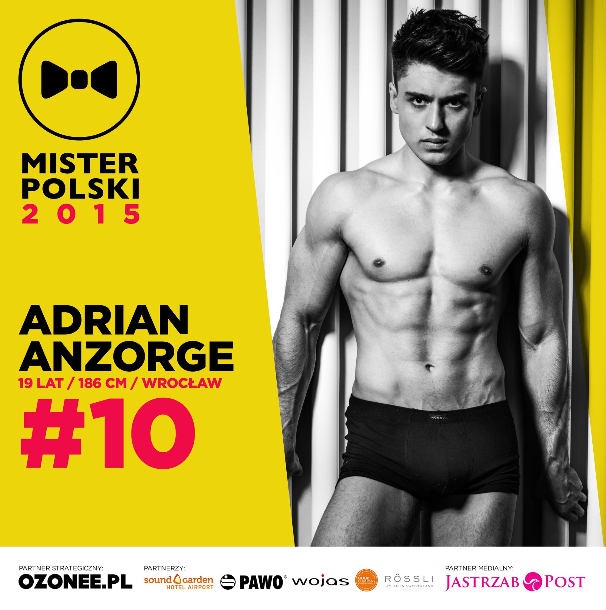 Adrian Anzorge - nr 10 - Mister Polski 2015