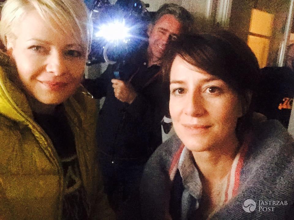 Zdjęcia zza kulis serialu Druga szansa, Małgorzata Kożuchowska, Maja Ostaszewska, fot: Facebook
