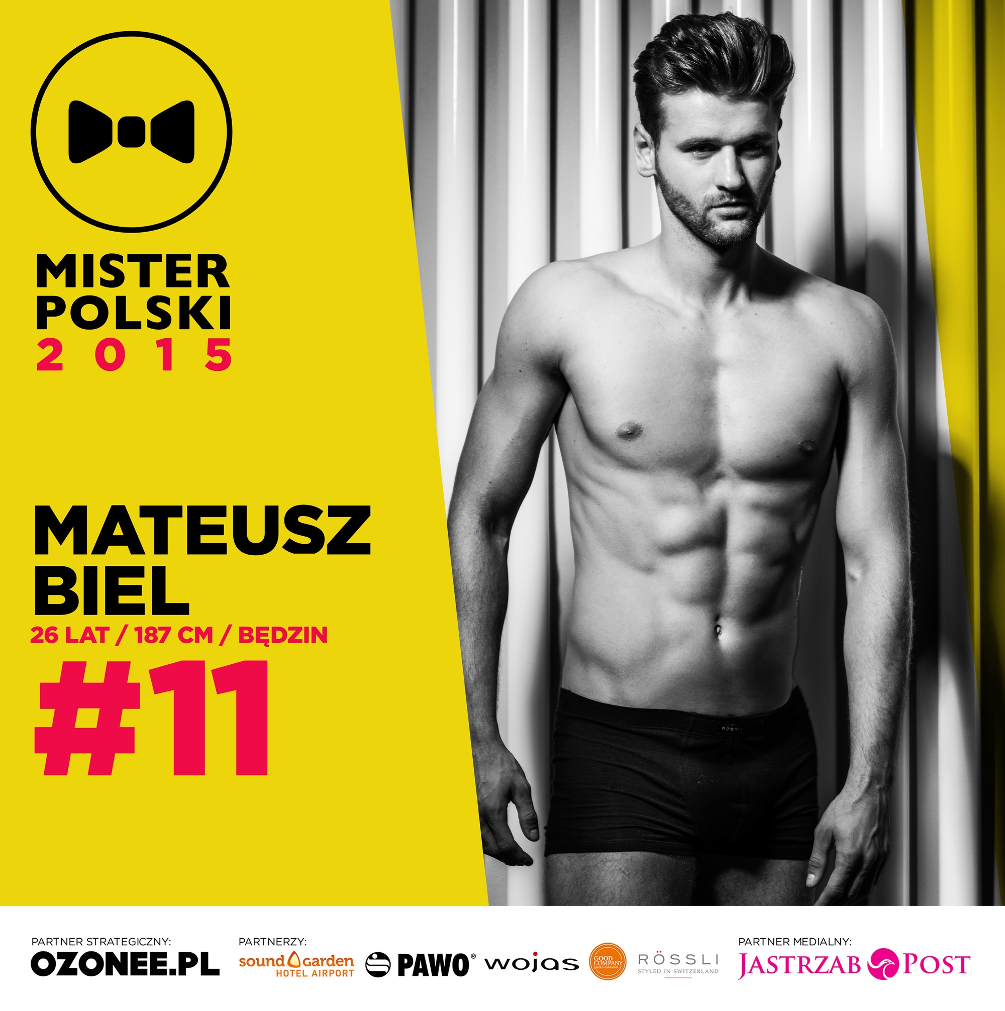 Mateusz Biel - nr 11 - Mister Polski 2015