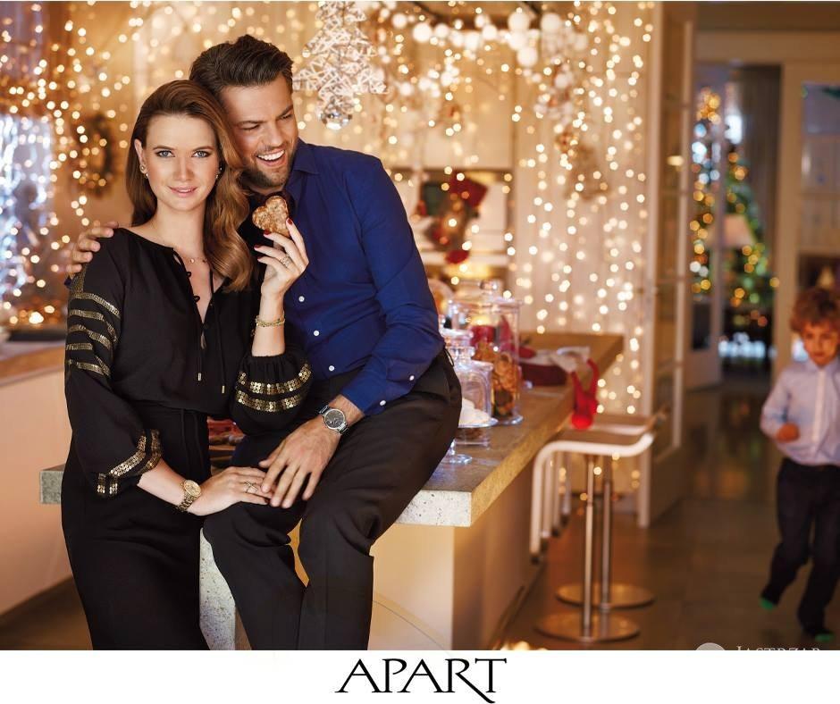 Karolina Malinowska i Olivier Janiak w kampanii Apart 2015