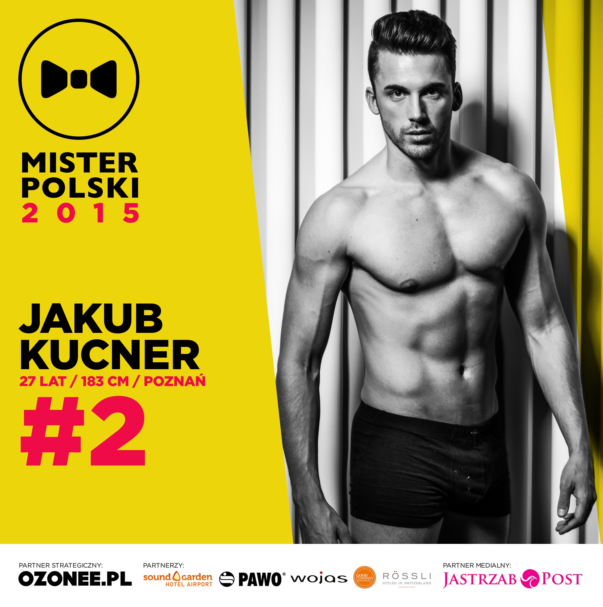 Jakub Kucner - nr 2 - Mister Polski 2015