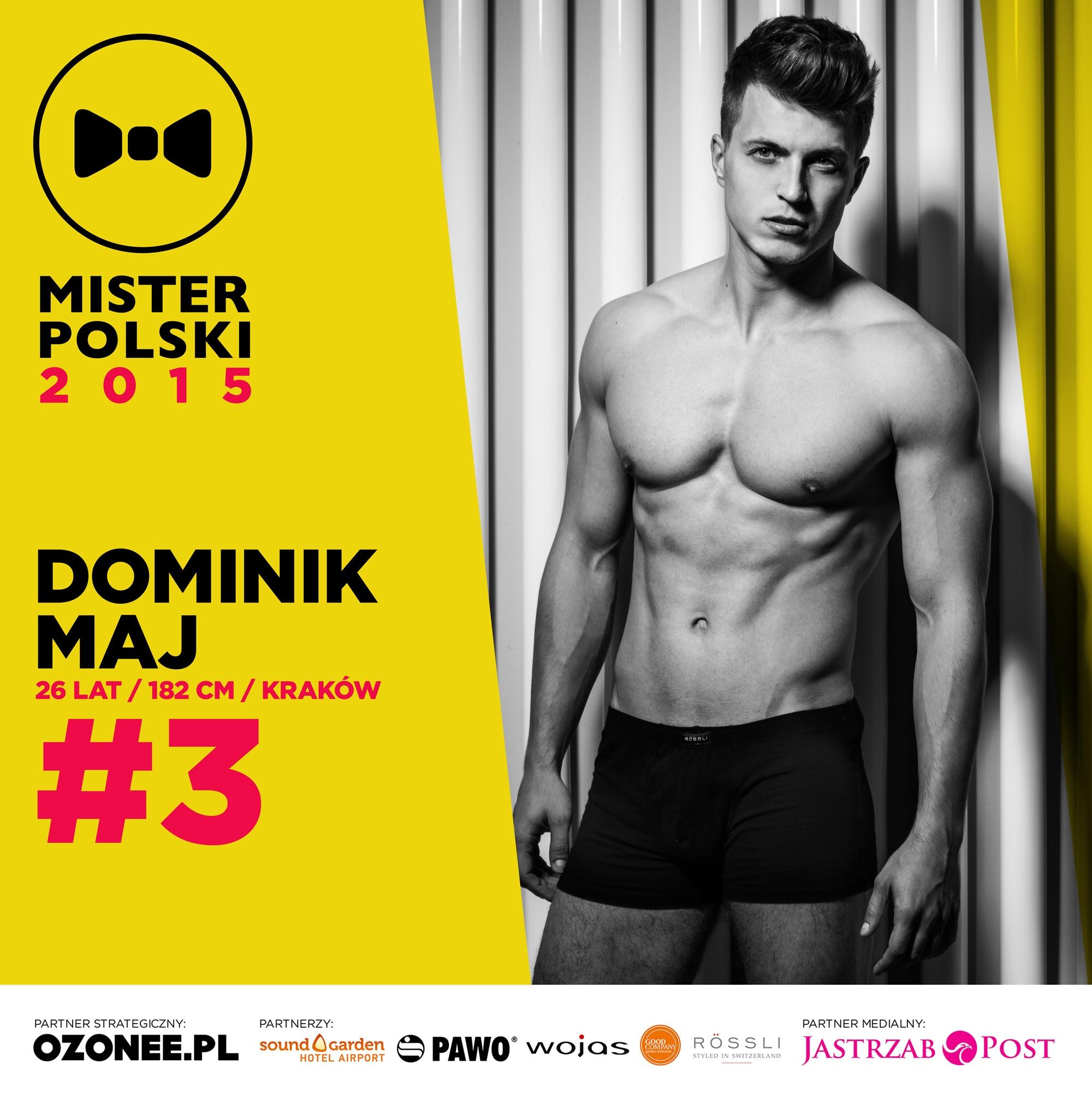 Dominik Maj - nr 3 - Mister Polski 2015