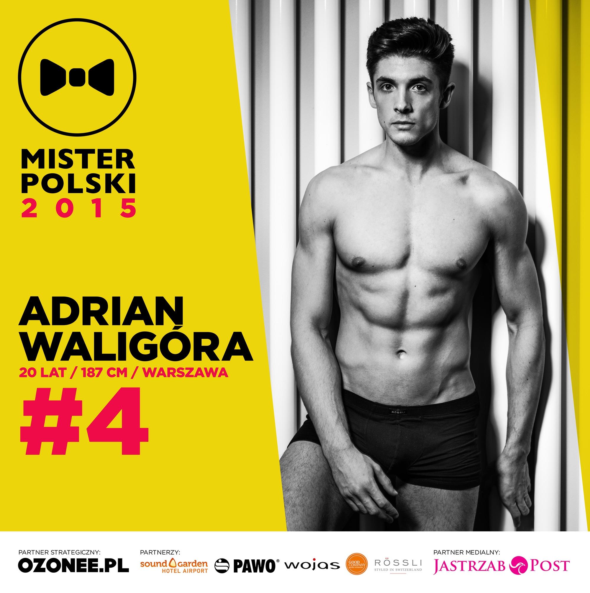 Adrian Waligóra - nr 4 - Mister Polski 2015