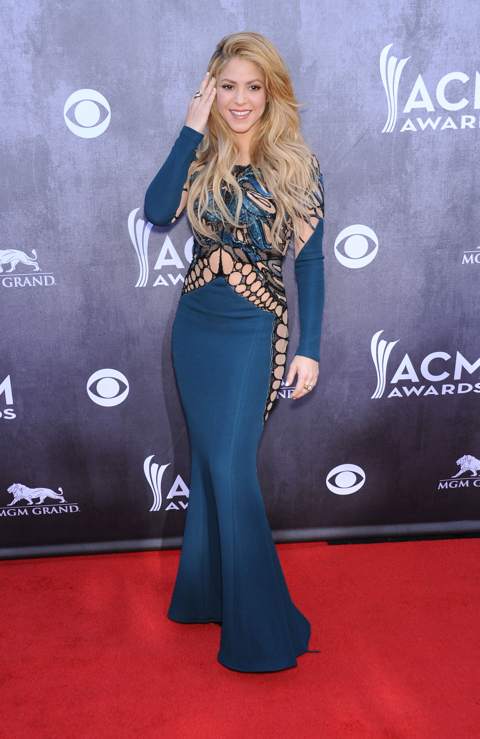 April 6, 2014 Las Vegas, NV. Shakira 49th Annual Academy of Country Music Awards-ARRIVALS at MGM Garden Arena © Chase Rollins / AFF-USA.COM