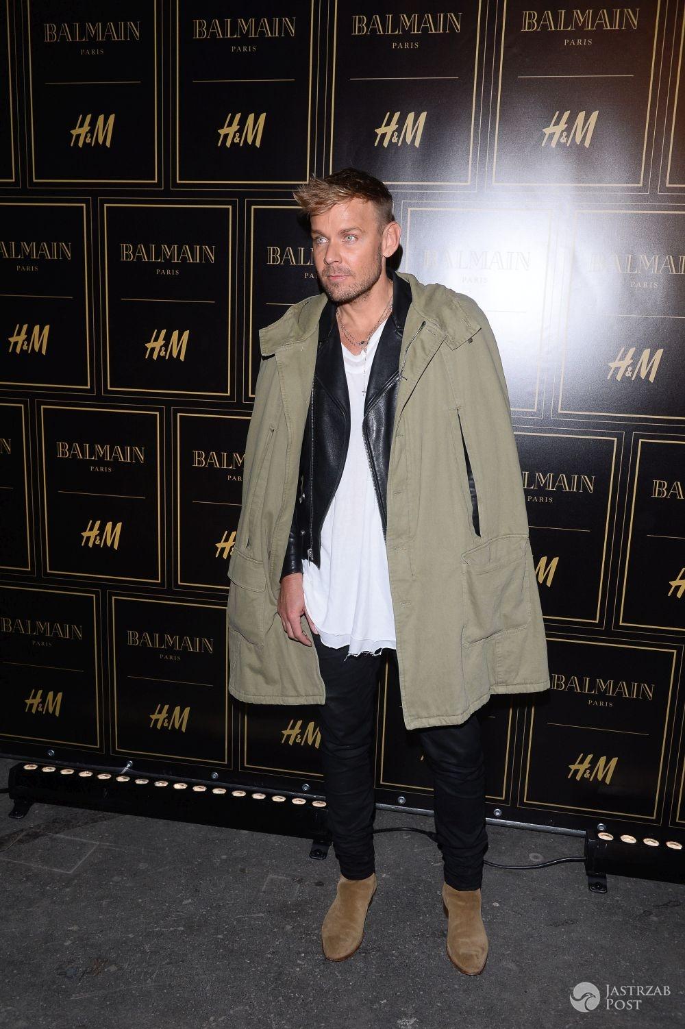 Dawid Woliński na pokazie Balmain dla H&M