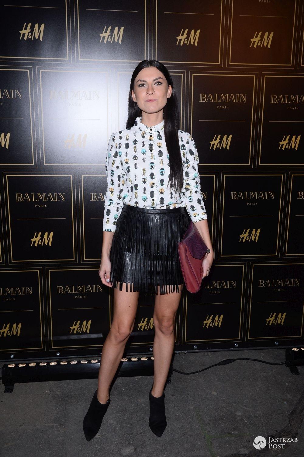 Basia Pasek na pokazie Balmain dla H&M