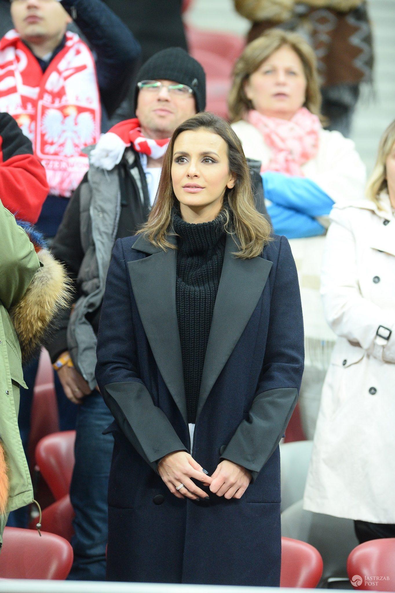 Sara Boruc na meczu Polska - Islandia