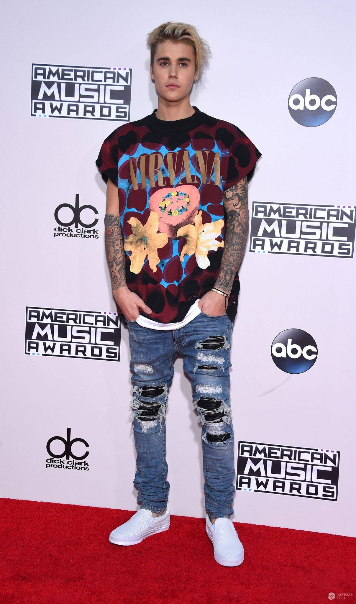Justin Bieber na American Music Awards 2015