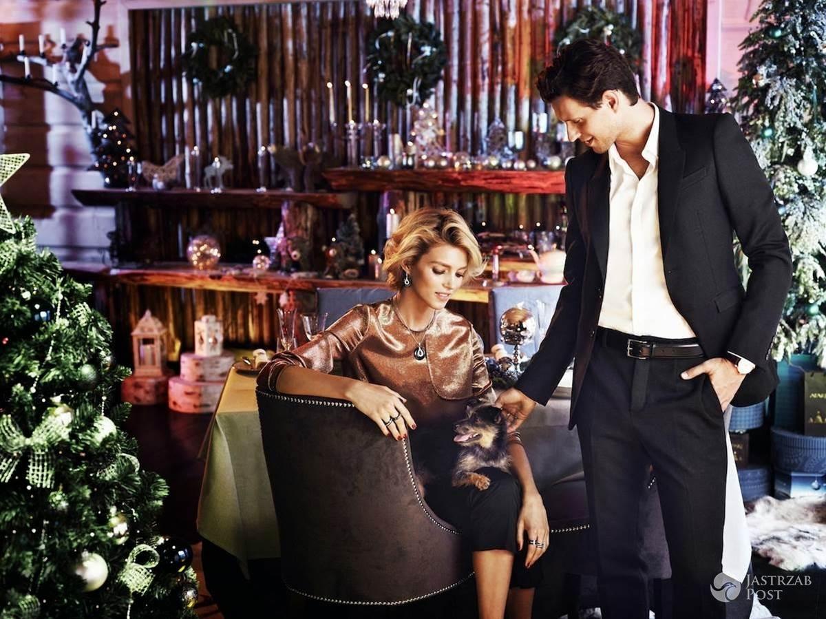 Anja Rubik i Sasha Knezevic w świątecznej kampanii Apart