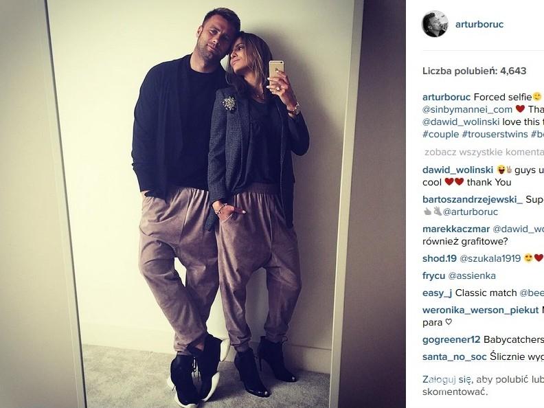 Artur Boruc i Sara Boruc (fot. Instagram)