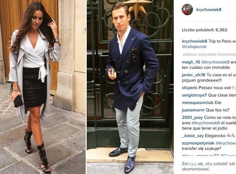 Grzegorz Krychowiak i jego ukochana Celia Jaunat (fot. Instagram)