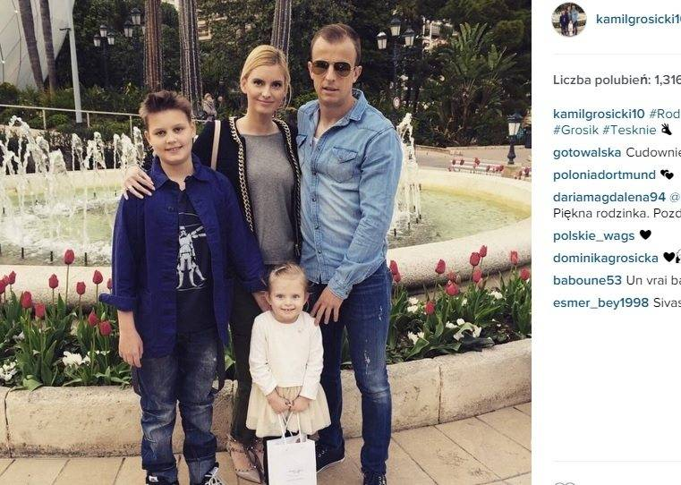 Kamil Grosicki z rodziną. Fot. Instagram.com