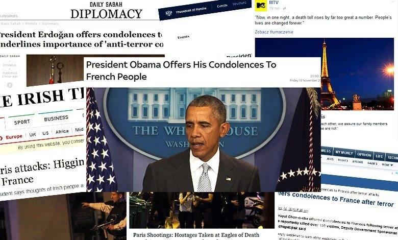 Kondolencje z całego świata napływają do Francji