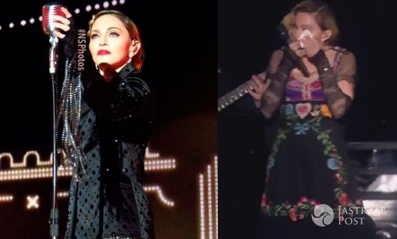Madonna płacze na koncercie w Sztokholmie