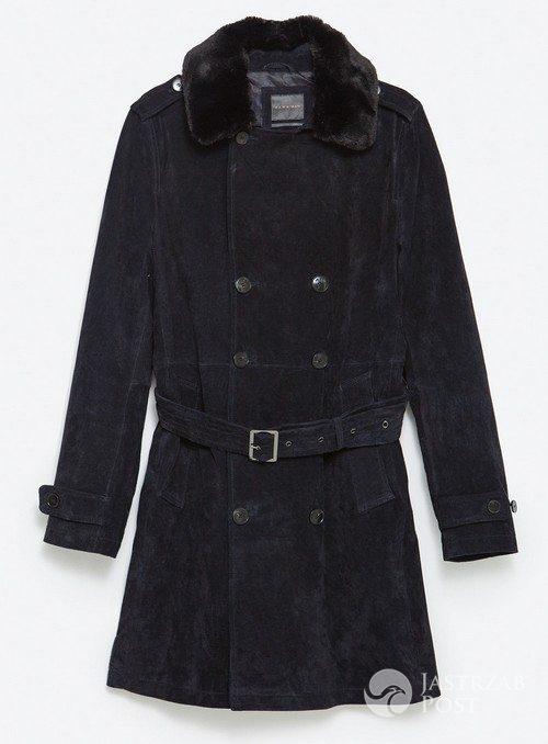 Płaszcz z futrzanym kołnierzem, Zara, 799 pln