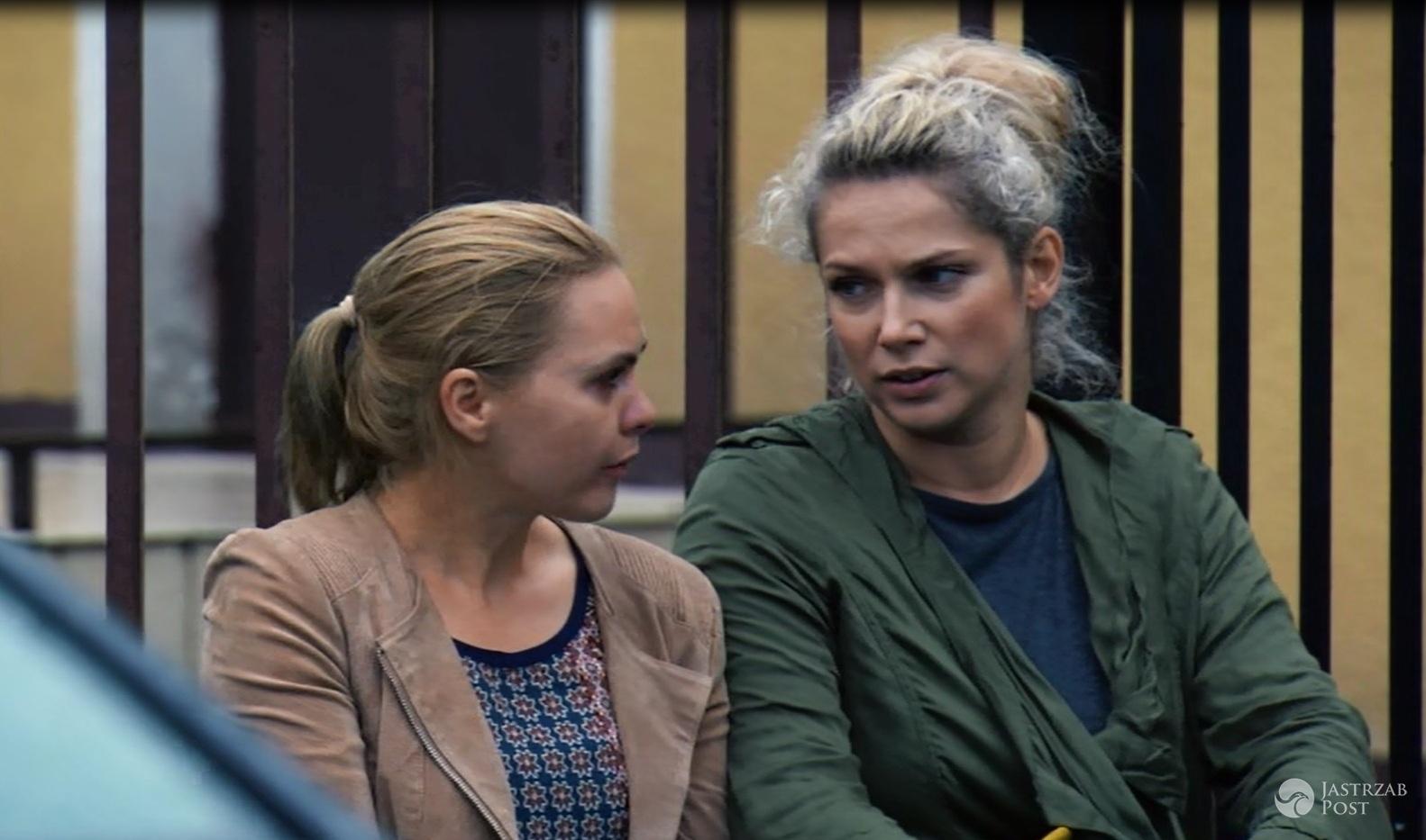 Przyjaciółki 6 odc 10, Anka (Magdalena Stużyńska), Patrycja (Joanna Liszowska) fot: Polsat materiały prasowe