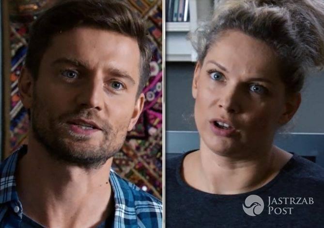Przyjaciółki odcinek 73 (11) Patrycja (Joanna Liszowska), Michał (Marcin Rogacewicz) fot: Polsat