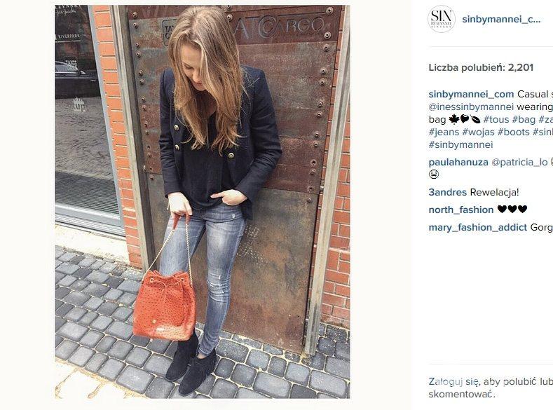 Ines Mannei w botkach z frędzlami (fot. Instagram)