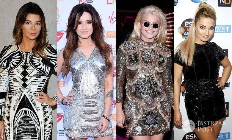 Gwiazdy w sukienkach mini z cekinów