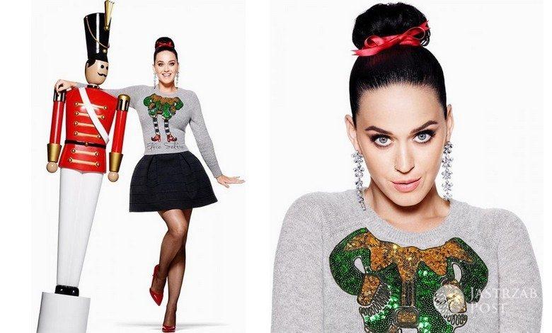 Katy Perry w świątecznej kampanii H&M 2015 (fot. H&M)