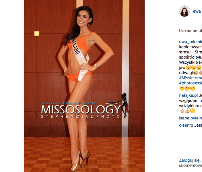 Ewa Mielnicka w bikini na Miss International 2015
