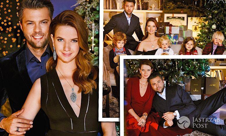 Świąteczna sesja Apart 2015 - Karolina Malinowska i Olivier Janiak z rodziną