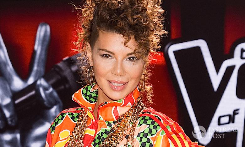 Edyta Górniak w kolorowym dresie w The Voice of Poland 6 - 2015 rok