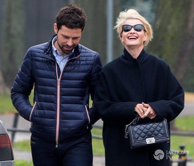 Małgorzata Kożuchowska z mężem Bartłomiejem Wróblewskim na spacerze