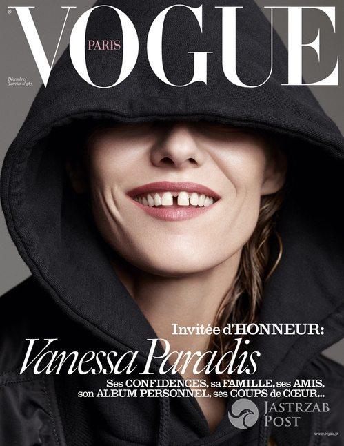 Vanessa Paradis, Vogue Paris (grudzień 2015 - styczeń 2016) (fot. Karim Sadli)