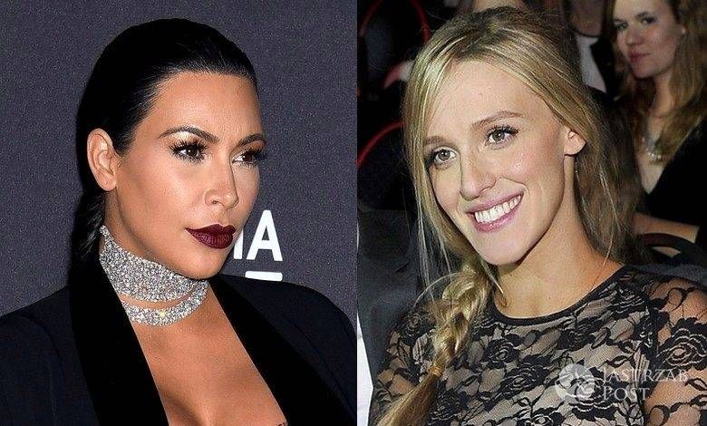 Koronkowe kombinezony Kim Kardashian i Aleksandry Żebrowskiej (fot. ONS, AKPA)