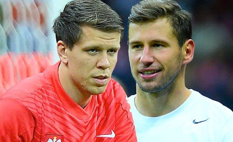 Grzegorz Krychowiak i Wojciech Szczęsny kłócą się na treningu