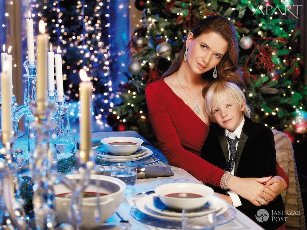 Karolina Malinowska i Olivier Janiak z dziećmi - świąteczna sesja Apart - Boże Narodzenie 2015
