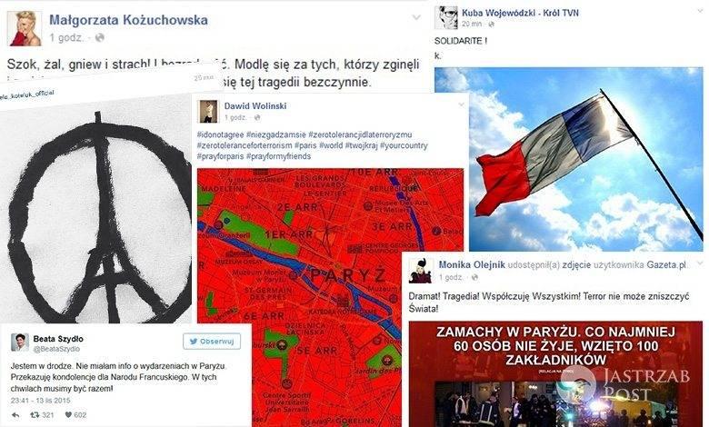 Polskie gwiazdy wspierają ofiary zamachów w Paryżu