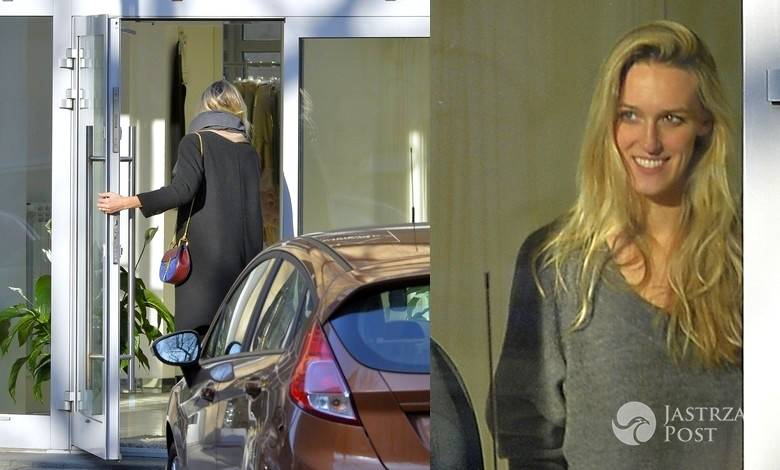 Aleksandra Żebrowska na zakupach w butiku Agnieszki Maciejak (fot. Jastrzabpost Exclusive)