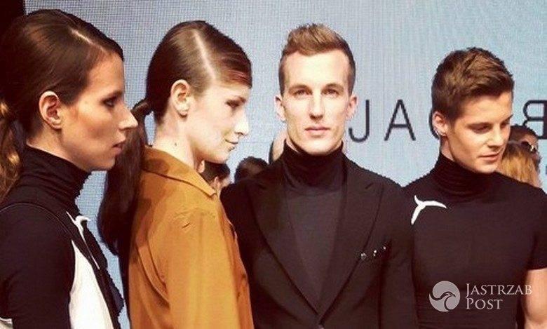 Natalia Gulkowska, Kamila Ibrom, Sebastian Zawiliński, Michael Mikołajczuk po pokazie Jacob Birge Vision, FashionPhilosophy Fashion Week Poland 2015 (fot. Instagram Fashionweek.pl)