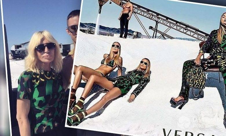 Łukasz Grabowski w kampanii Versace SS 2016 (fot. Instagram)