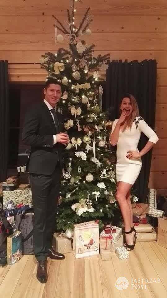 Anna i Robert Lewandowscy - święta Bożego Narodzenia 2015 i Wigilia u gwiazd