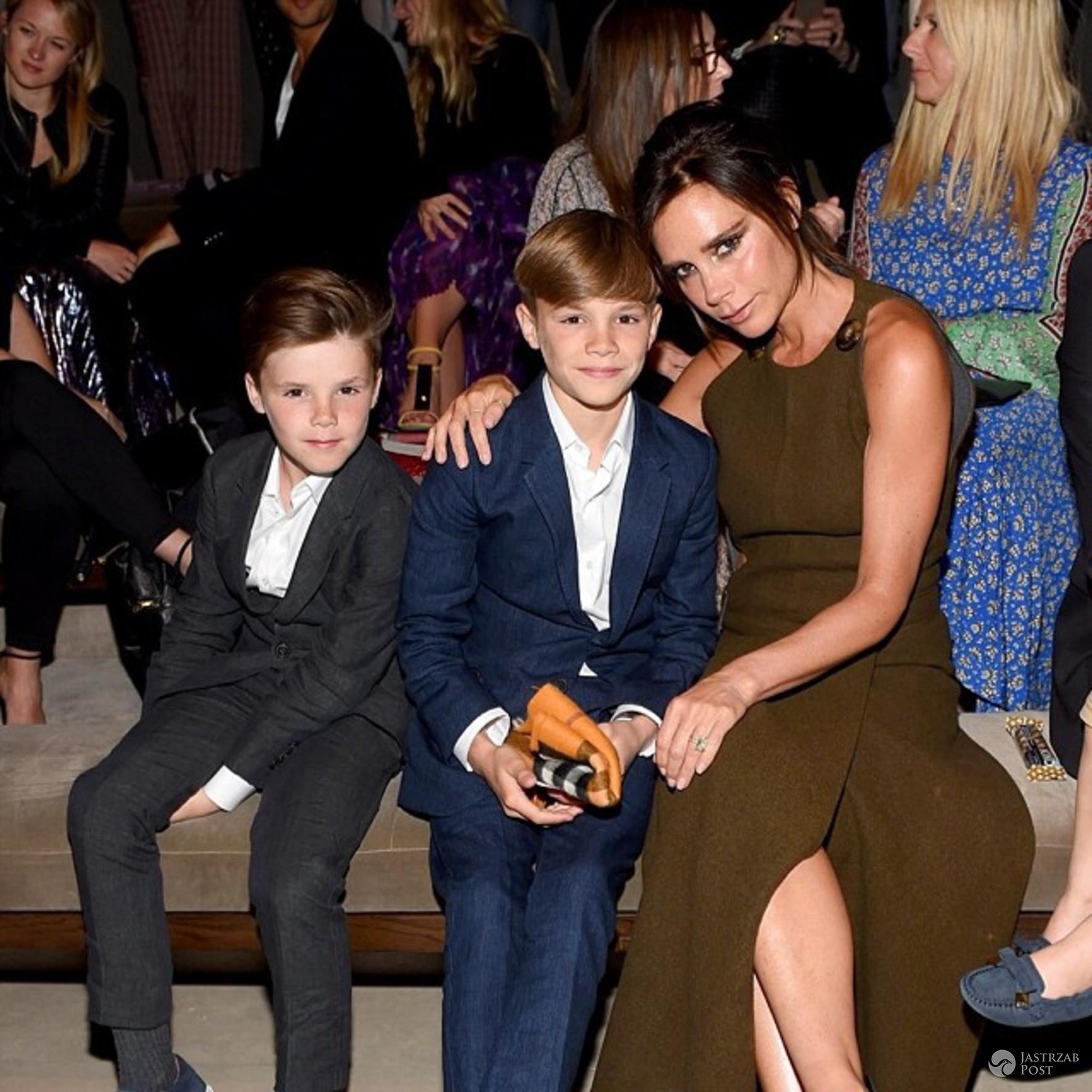 Victoria Beckham z synami Cruzem i Romeo (fot. ONS)