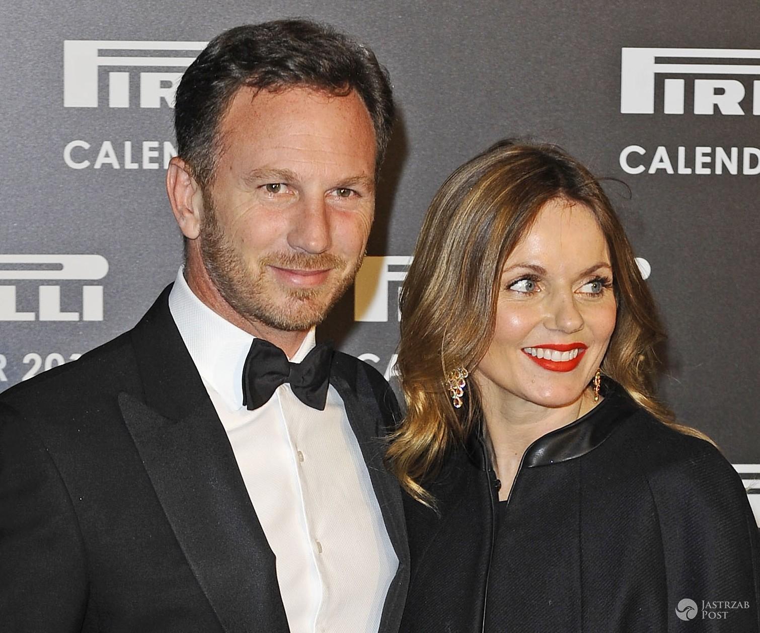Geri Halliwell i mąż Christian Horner, impreza kalendarza Pirelli 2016 (fot. ONS)
